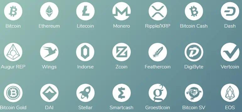 ارزهای پشتیبانی شده توسط اپلیکیشن Edge