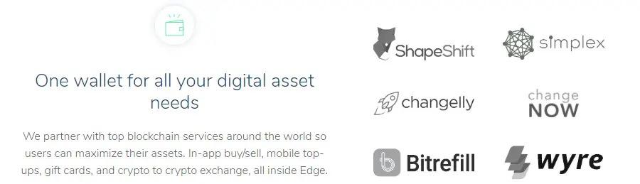 مبادله ارز دیجیتال از طریق اپلیکیشن Edge موبایل