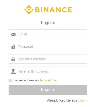 ساخت حساب کاربری صرافی بایننس
