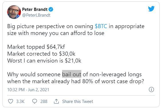 توئیت پیتر برانت