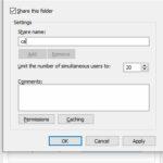 اشتراک گذاشتن فولدر در ویندوز
